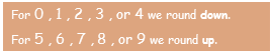 Rule for rounding to the nearest 10