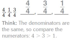 Go Math Grade 3 Answer Key Chapter 9 Compare Fractions Compare and Order Fractions img 13