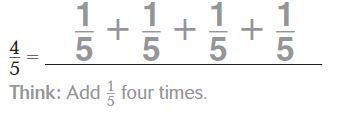 Go Math Grade 4 Answer Key Chapter 7 Add and Subtract Fractions Page 394 Question 1
