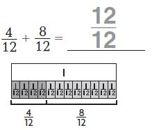 Go Math Grade 4 Answer Key Chapter 7 Add and Subtract Fractions Common Core - New Page No. 413 Q 1