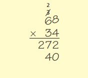 Go Math Grade 4 Answer Key Homework FL Chapter 3 Multiply 2-Digit Numbers Review Test img 2