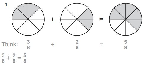 Go Math Grade 4 Answer Key Homework Practice FL Chapter 7 Add and Subtract Fractions Common Core - Add and Subtract Fractions img 1