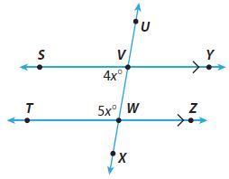 Go Math Grade 8 Answer Key Chapter 11 Angle Relationships in Parallel Lines and Triangles Lesson 1: Parallel Lines Cut by a Transversal img 1