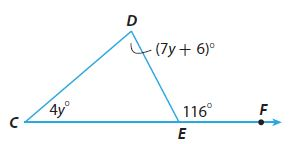 Go Math Grade 8 Answer Key Chapter 11 Angle Relationships in Parallel Lines and Triangles Lesson 2: Angle Theorems for Triangles img 11