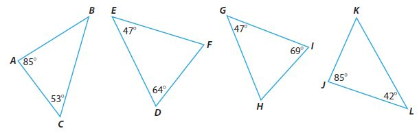 Go Math Grade 8 Answer Key Chapter 11 Angle Relationships in Parallel Lines and Triangles Lesson 3: Angle-Angle Similarity img 23