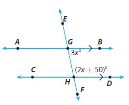 Go Math Grade 8 Answer Key Chapter 11 Angle Relationships in Parallel Lines and Triangles Lesson 1: Parallel Lines Cut by a Transversal img 3