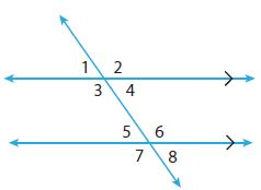 Go Math Grade 8 Answer Key Chapter 11 Angle Relationships in Parallel Lines and Triangles Lesson 1: Parallel Lines Cut by a Transversal img 5