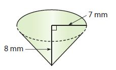Go Math Grade 8 Answer Key Chapter 13 Volume Lesson 2: Volume of Cones img 11
