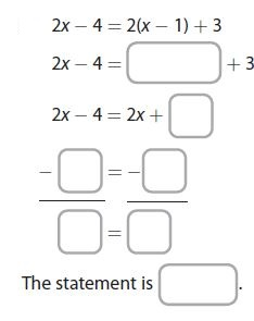 Go Math Grade 8 Answer Key Chapter 7 Solving Linear Equations Lesson 4: Equations with Many Solutions or No Solution img 9