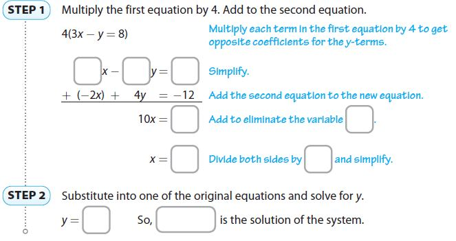 Go Math Grade 8 Answer Key Chapter 8 Solving Systems of Linear Equations Lesson 4: Solving Systems by Elimination with Multiplication img 15