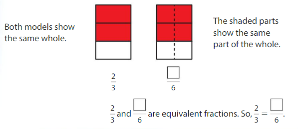 Big Ideas Math Answer Key Grade 3 Chapter 11 Understand Fraction Equivalence and Comparison 11.1 2