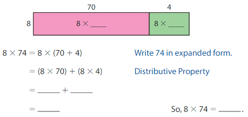 Big Ideas Math Answer Key Grade 4 Chapter 3 Multiply by One-Digit Numbers 3.5 2