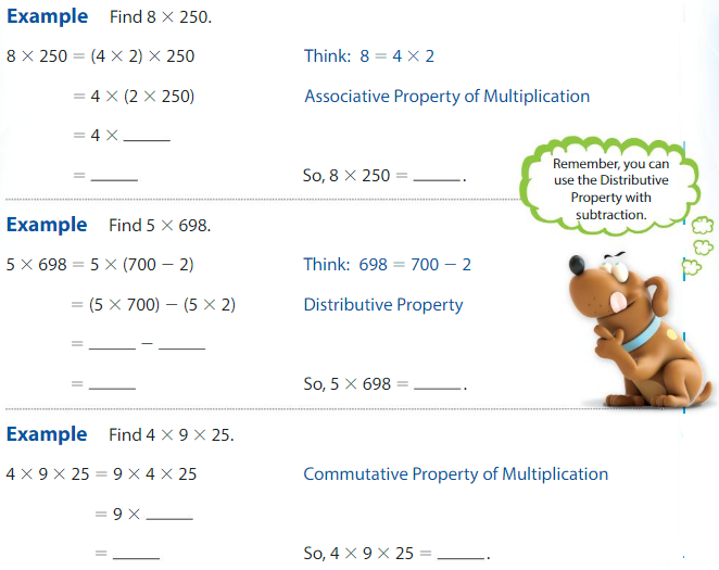 Big Ideas Math Answer Key Grade 4 Chapter 3 Multiply by One-Digit Numbers 3.9 2