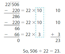Big Ideas Math Answer Key Grade 5 Chapter 6 Divide Whole Numbers 6.5 14