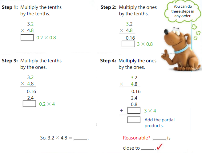 Big Ideas Math Answers 5th Grade Chapter 5 Multiply Decimals 5.6 2