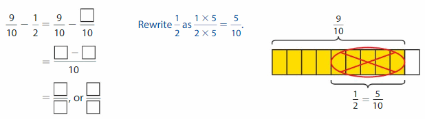 Big Ideas Math Answers 5th Grade Chapter 8 Add and Subtract Fractions 61