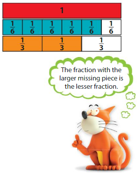 Big Ideas Math Answers Grade 3 Chapter 11 Understand Fraction Equivalence and Comparison 11.7 1