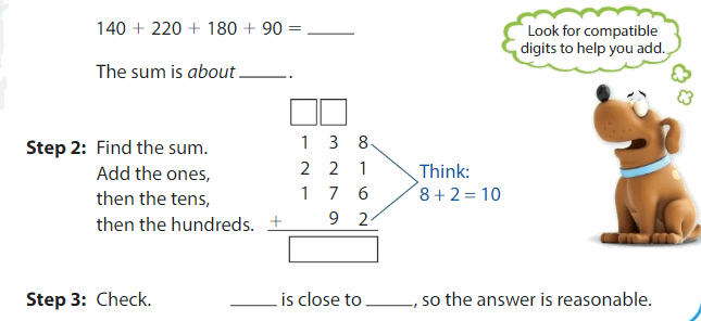 Big Ideas Math Answers Grade 3 Chapter 8 Add and Subtract Multi-Digit Numbers 103