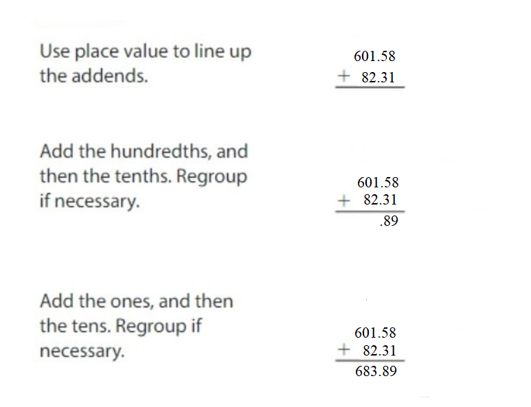Big-Ideas-Math-Answers-Grade-5-Chapter-3-Add-and-Subtract-Decimals-Lesson 3.3 Add Decimals-Add Decimals Homework & Practice 3.3.2