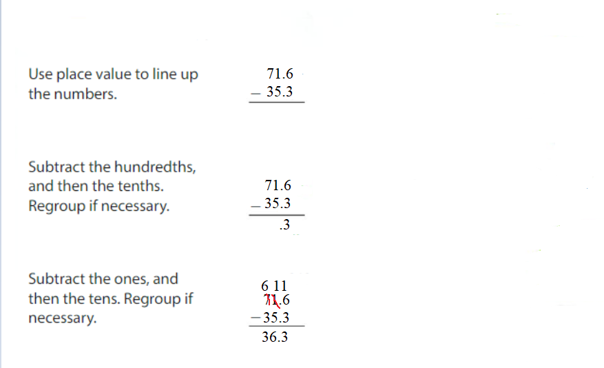 Big-Ideas-Math-Answers-Grade-5-Chapter-3-Add-and-Subtract-Decimals-Lesson 3.4 Subtract Decimals-Show and Grow1