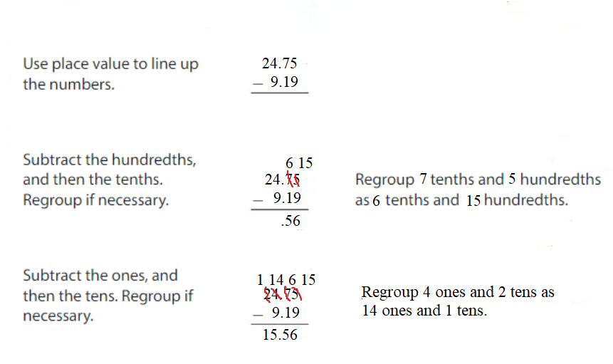 Big-Ideas-Math-Answers-Grade-5-Chapter-3-Add-and-Subtract-Decimals-Lesson 3.4 Subtract Decimals-Show and Grow3