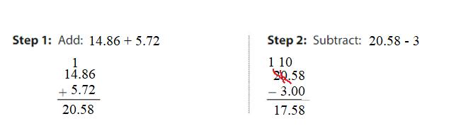 Big-Ideas-Math-Answers-Grade-5-Chapter-3-Add-and-Subtract-Decimals-Lesson 3.5 Add and Subtract Decimals-Add and Subtract Decimals Homework & Practice 3.5.2