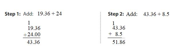 Big-Ideas-Math-Answers-Grade-5-Chapter-3-Add-and-Subtract-Decimals-Lesson 3.5 Add and Subtract Decimals-Add and Subtract Decimals Homework & Practice 3.5.5