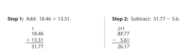 Big-Ideas-Math-Answers-Grade-5-Chapter-3-Add-and-Subtract-Decimals-Lesson 3.5 Add and Subtract Decimals-Think and Grow-Add and Subtract Decimals-example