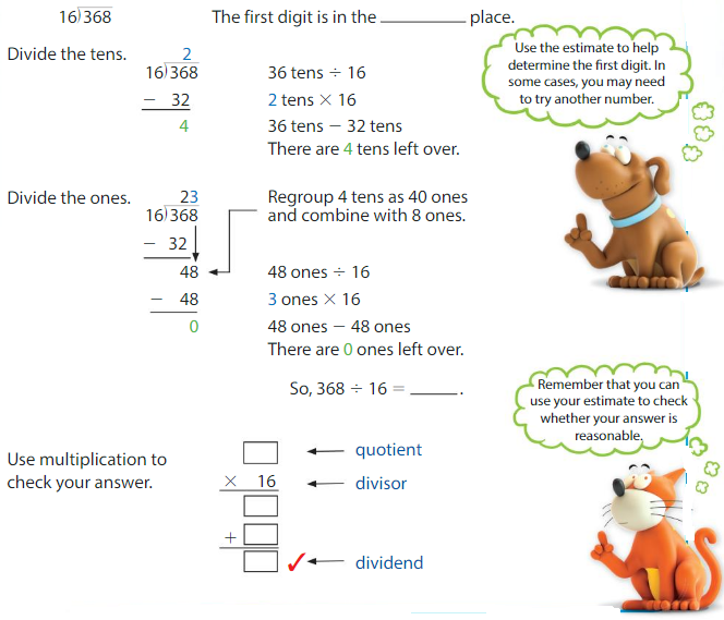 Big Ideas Math Answers Grade 5 Chapter 6 Divide Whole Numbers 6.7 2