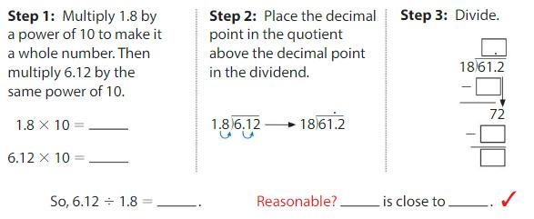 Big Ideas Math Answers Grade 5 Chapter 7 Divide Decimals 7.7 2