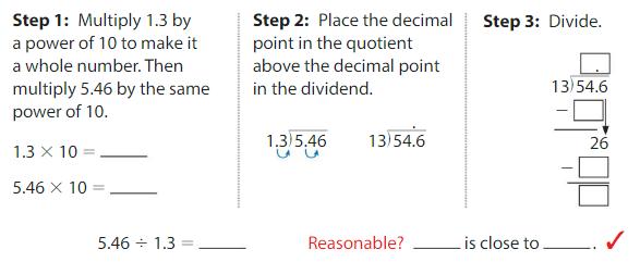 Big Ideas Math Answers Grade 5 Chapter 7 Divide Decimals 7.7 6