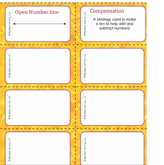 Big-Ideas-Math-Book-2nd-Grade-Answer-Key-Chapter-3-Addition-to-100-Strategies-Chapter-3-Vocabulary-cards