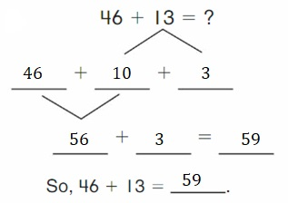 Big-Ideas-Math-Book-2nd-Grade-Answer-Key-Chapter-3-Addition-to-100-Strategies-Decompose-Add-Tens-Ones-Homework-Practice-3.4-Question-2