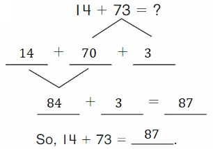 Big-Ideas-Math-Book-2nd-Grade-Answer-Key-Chapter-3-Addition-to-100-Strategies-Decompose-Add-Tens-Ones-Homework-Practice-3.4-Question-3