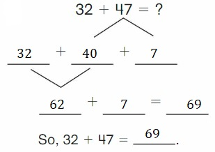 Big-Ideas-Math-Book-2nd-Grade-Answer-Key-Chapter-3-Addition-to-100-Strategies-Lesson-3.4-Decompose-Add-Tens-Ones-Apply-Grow-Practice-Question-7