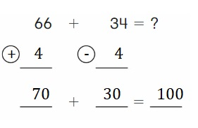 Big-Ideas-Math-Book-2nd-Grade-Answer-Key-Chapter-3-Addition-to-100-Strategies-Use Compensation-Add-Homework-Practice-3.5-Question-3