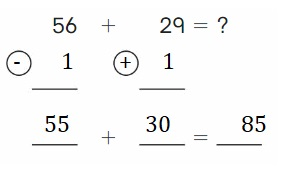 Big-Ideas-Math-Book-2nd-Grade-Answer-Key-Chapter-3-Addition-to-100-Strategies-Use Compensation-Add-Homework-Practice-3.5-Question-4