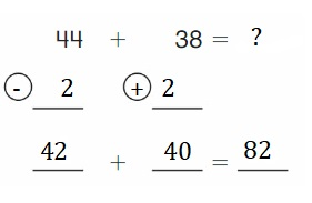 Big-Ideas-Math-Book-2nd-Grade-Answer-Key-Chapter-3-Addition-to-100-Strategies-Use Compensation-Add-Homework-Practice-3.5-Question-6