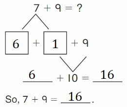 Big-Ideas-Math-Book-2nd-Grade-Answer-key-Chapter-2-Fluency-and-Strategies-within-20-Lesson-2.4-Make-10-to-Show-Grow-Add-Question-1