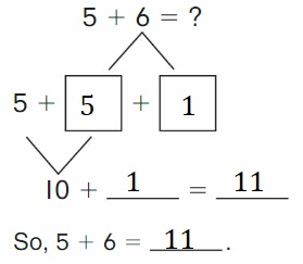 Big-Ideas-Math-Book-2nd-Grade-Answer-key-Chapter-2-Fluency-and-Strategies-within-20-Make-10-Add-Homework-Practice-2.4-Question-1