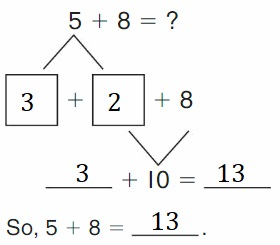 Big-Ideas-Math-Book-2nd-Grade-Answer-key-Chapter-2-Fluency-and-Strategies-within-20-Make-10-Add-Homework-Practice-2.4-Question-2