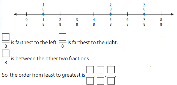 Big Ideas Math Solutions Grade 3 Chapter 11 Understand Fraction Equivalence and Comparison 11.8 2