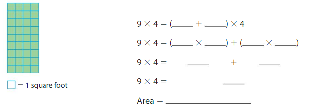 Big Ideas Math Solutions Grade 3 Chapter 6 Relate Area to Multiplication 6.4 10