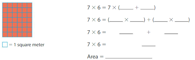 Big Ideas Math Solutions Grade 3 Chapter 6 Relate Area to Multiplication 6.4 5