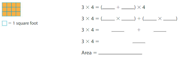 Big Ideas Math Solutions Grade 3 Chapter 6 Relate Area to Multiplication 6.4 6