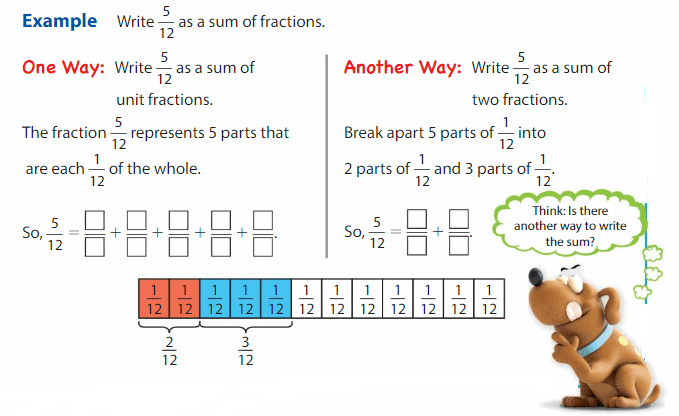 Big Ideas Math Solutions Grade 4 Chapter 8 Add and Subtract Fractions 31.1
