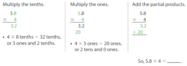 Big Ideas Math Solutions Grade 5 Chapter 5 Multiply Decimals 5.4 3