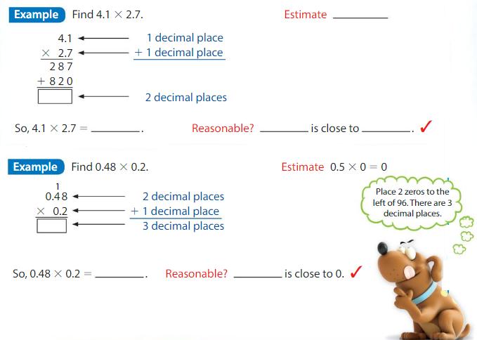 Big Ideas Math Solutions Grade 5 Chapter 5 Multiply Decimals 5.8 3
