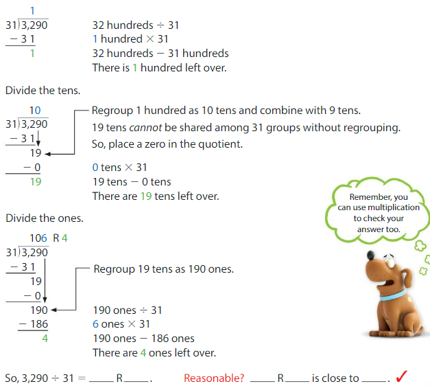 Big Ideas Math Solutions Grade 5 Chapter 6 Divide Whole Numbers 6.8 2