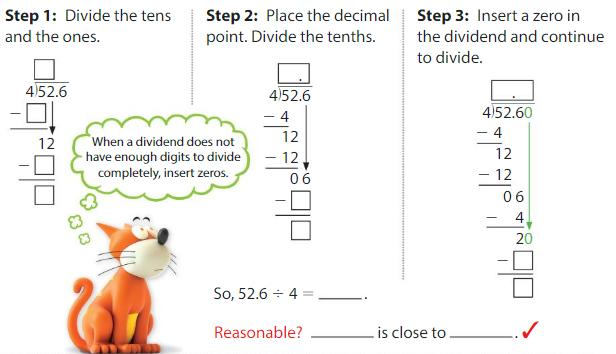 Big Ideas Math Solutions Grade 5 Chapter 7 Divide Decimals 7.8 2